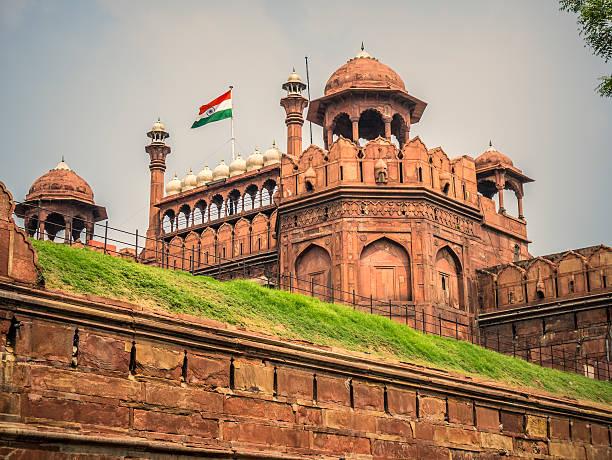 Red Fort Delhi India stock photo
