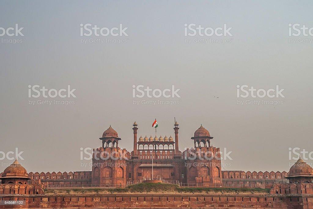 Red Fort (Lal Qila) Delhi. India stock photo