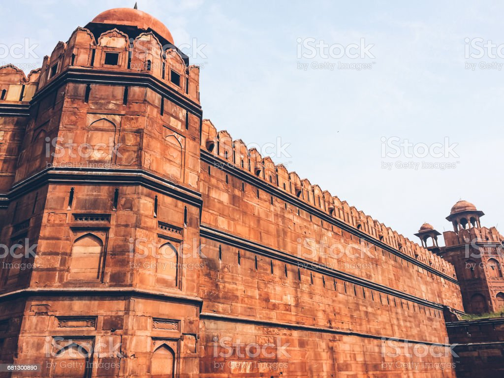 Red Fort, Fortress Wall royalty-free stock photo