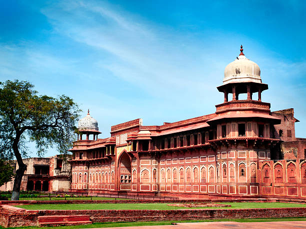 Red Fort in Agra, India stock photo