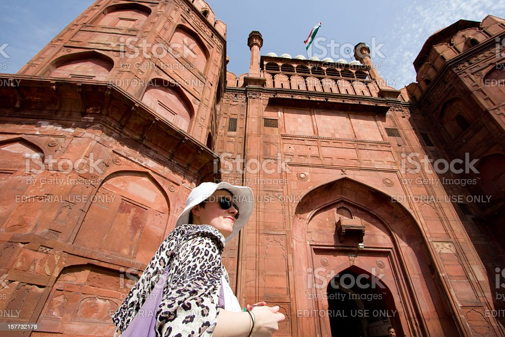 Red Fort in Delhi, India royalty-free stock photo