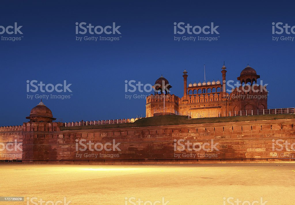 Red Fort (Lal Qil'ah) in Delhi royalty-free stock photo