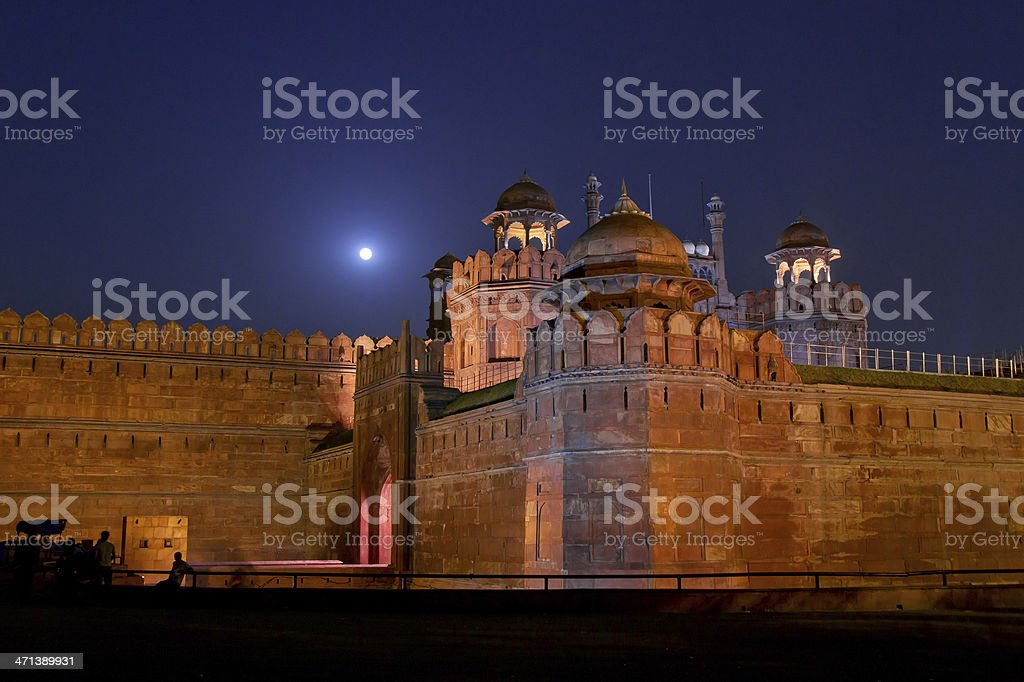 Red Fort (Lal Qil'ah) in Delhi stock photo