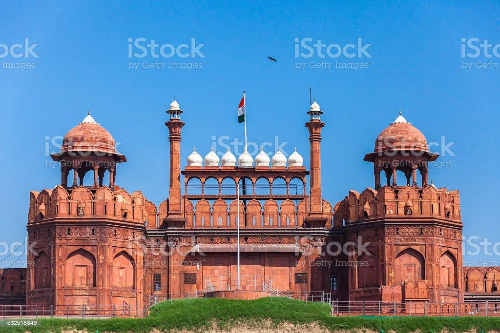 Forte Vermelho em Delhi - foto de acervo