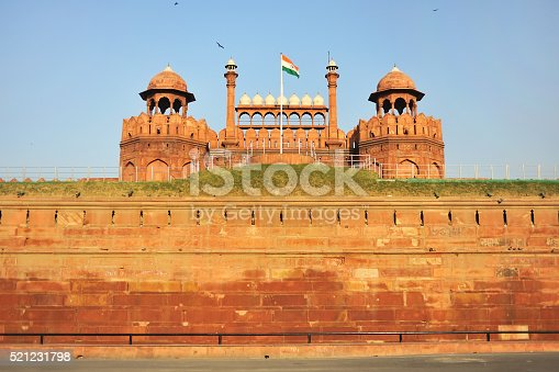 red fort in New Delhi, captical of India.