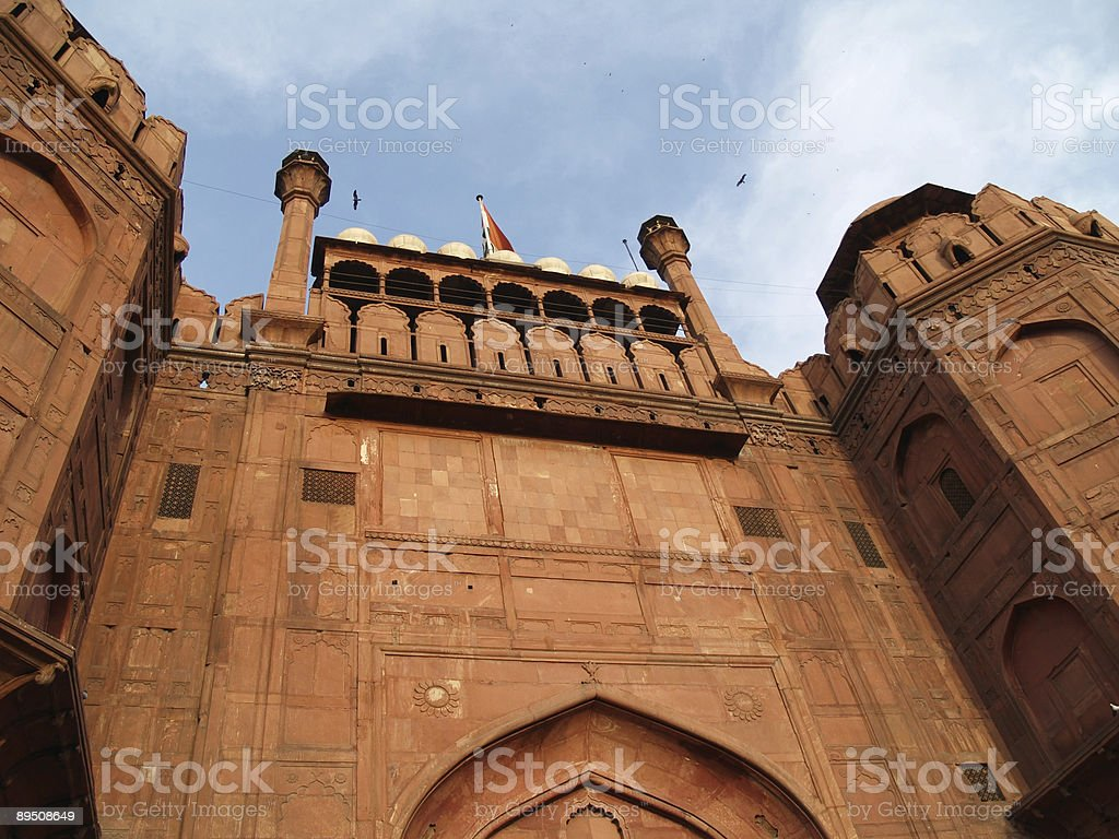 Red Fort in New Delhi royalty-free stock photo