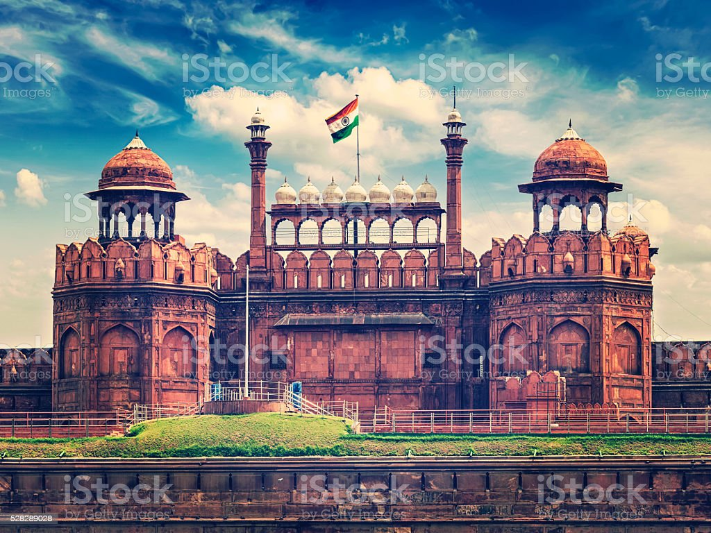 Red Fort Lal Qila. Délhi, Índia - foto de acervo