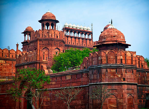 Red Fort Lal Qila. Delhi, India stock photo