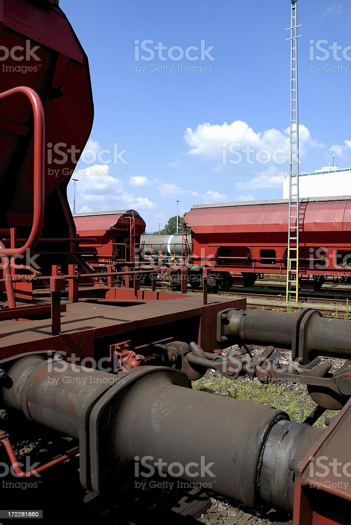 red freight royalty-free stock photo