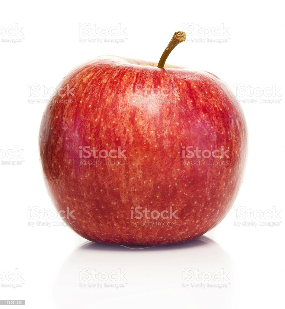 Red fresh apple isolated on white background royalty-free stock photo
