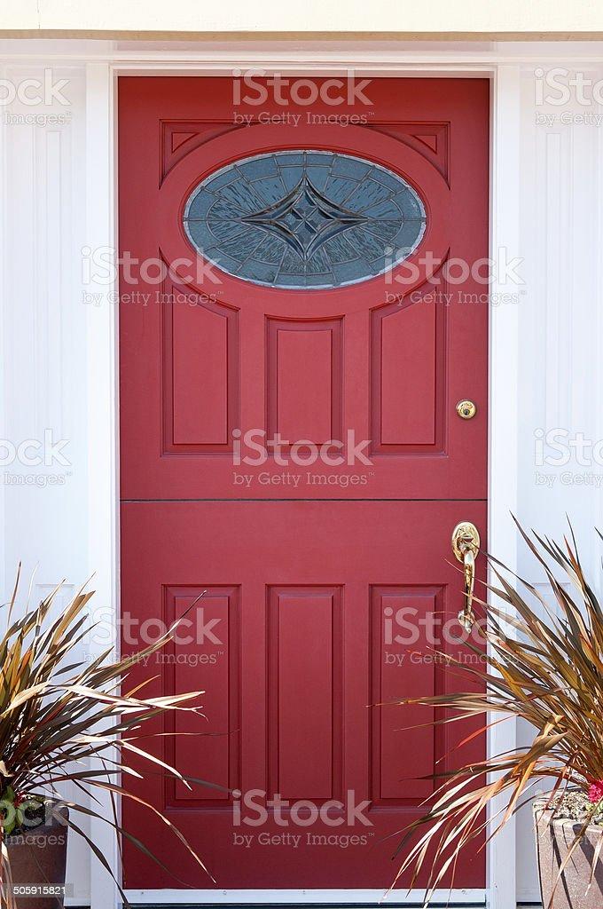 Red Front Door stock photo