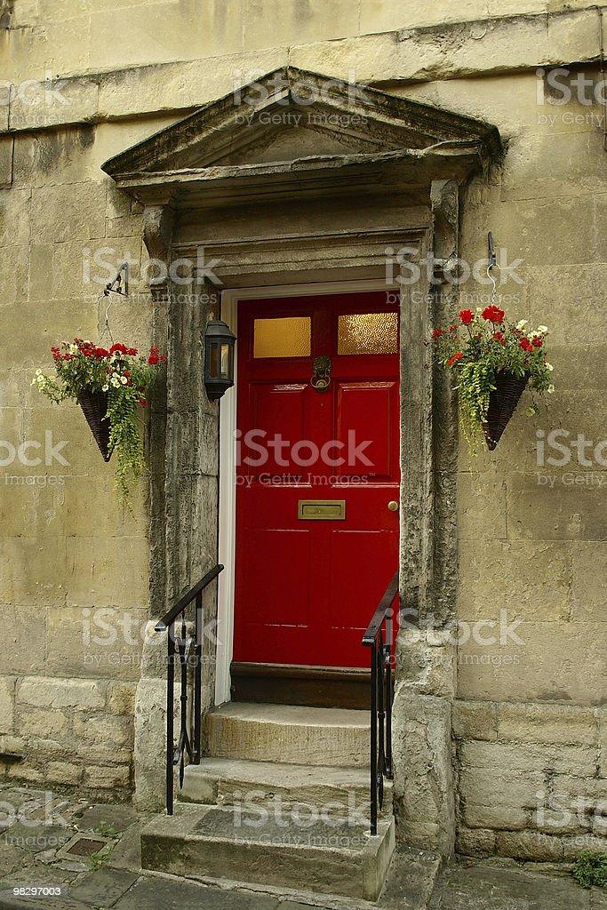 Red Front Door royalty-free stock photo