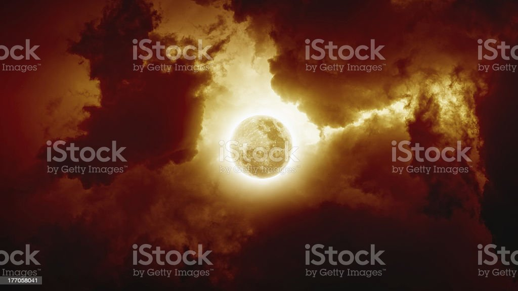 Red full moon royalty-free stock photo