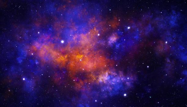 Red galaxy stock photo