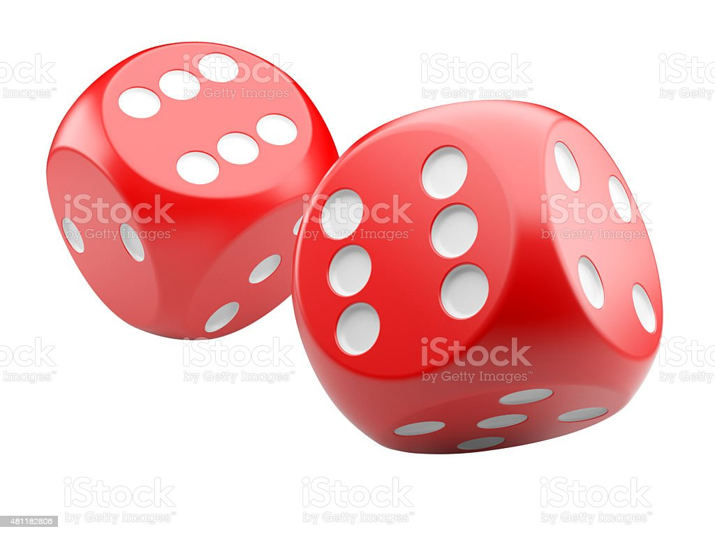 red game dices stock photo