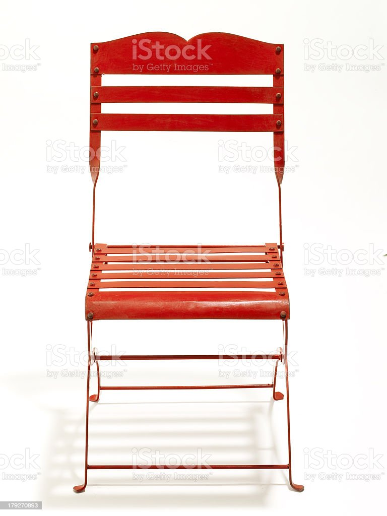 Red Garden Chair royalty-free stock photo