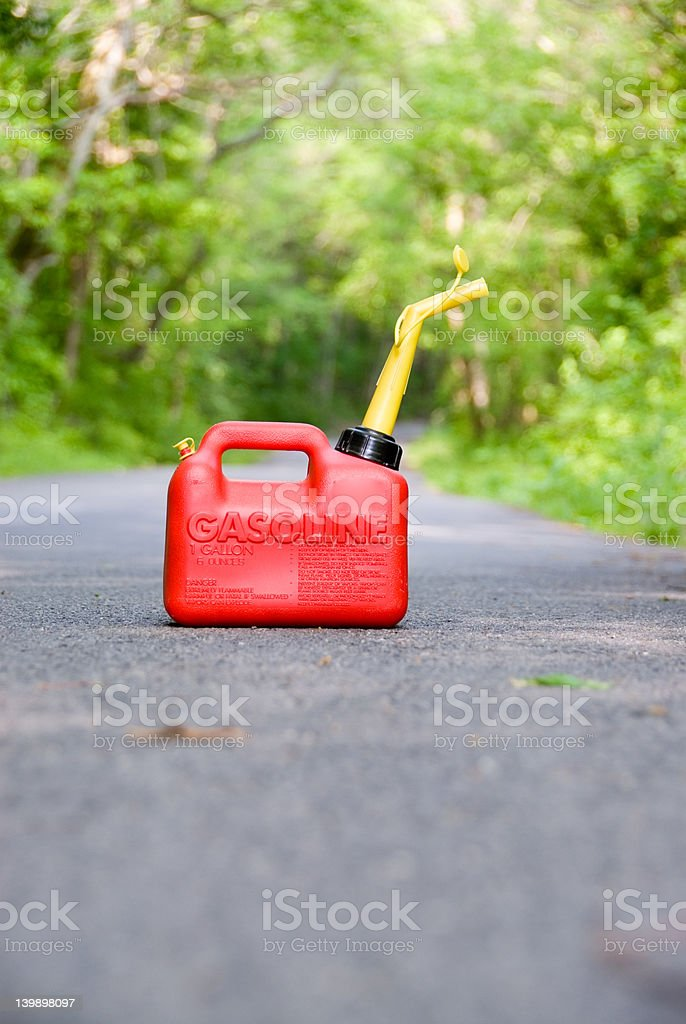 Red Gas Can royalty-free stock photo