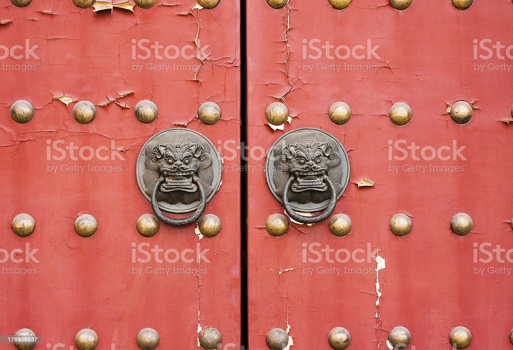 Red gate stock photo