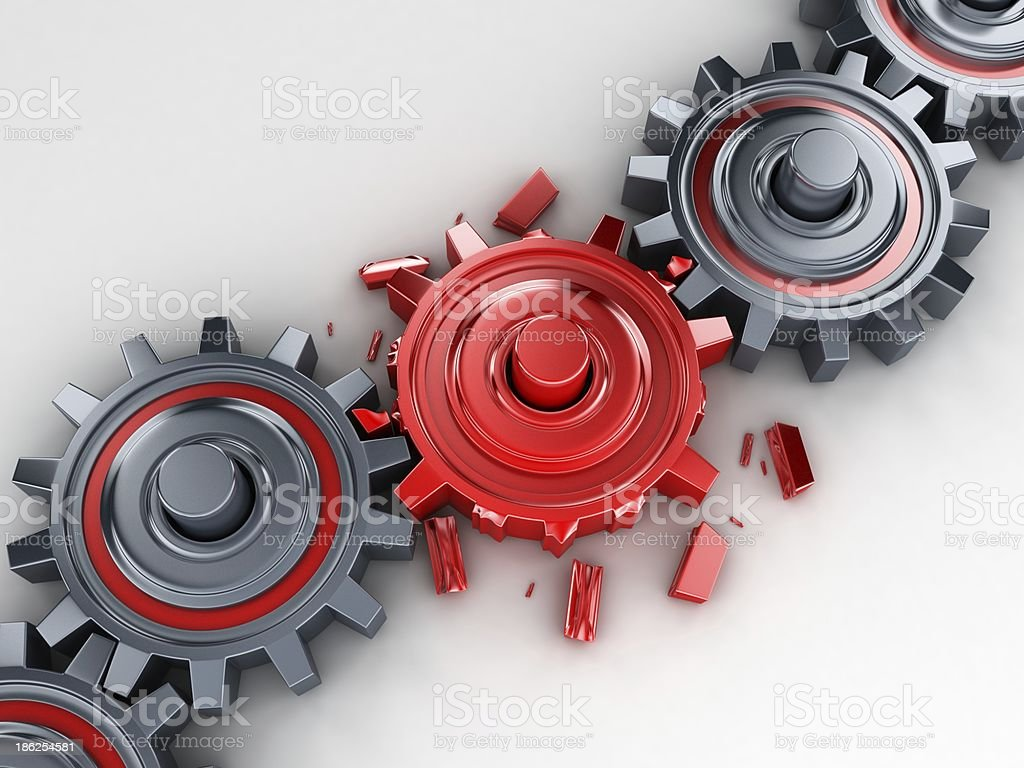 Red gear stock photo