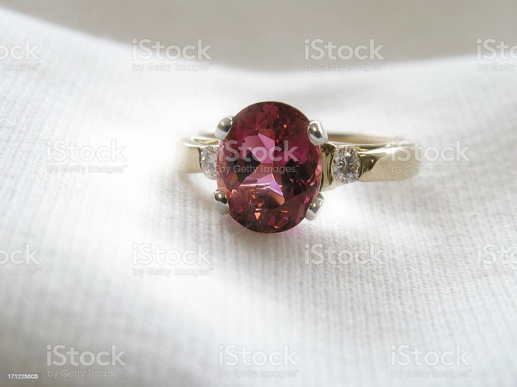 Red gemstone stock photo