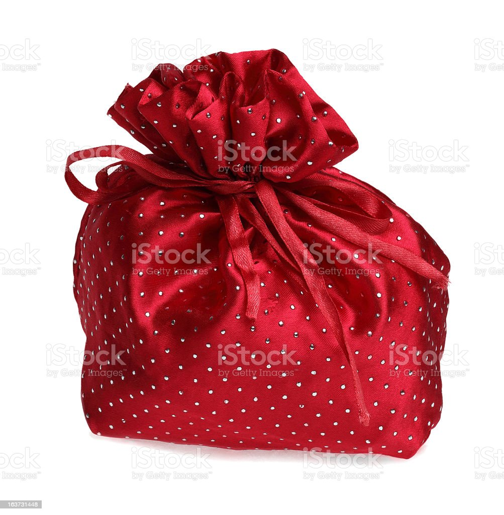 Red Gift Bag royalty-free stock photo