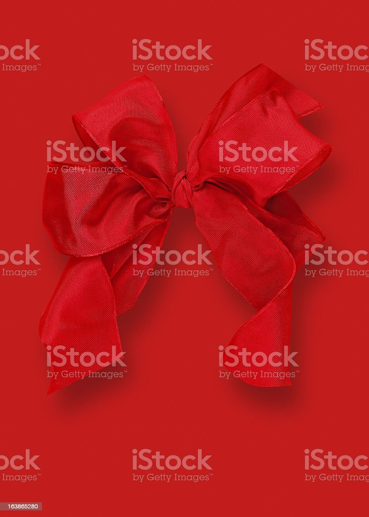 Red gift bow. royalty-free stock photo