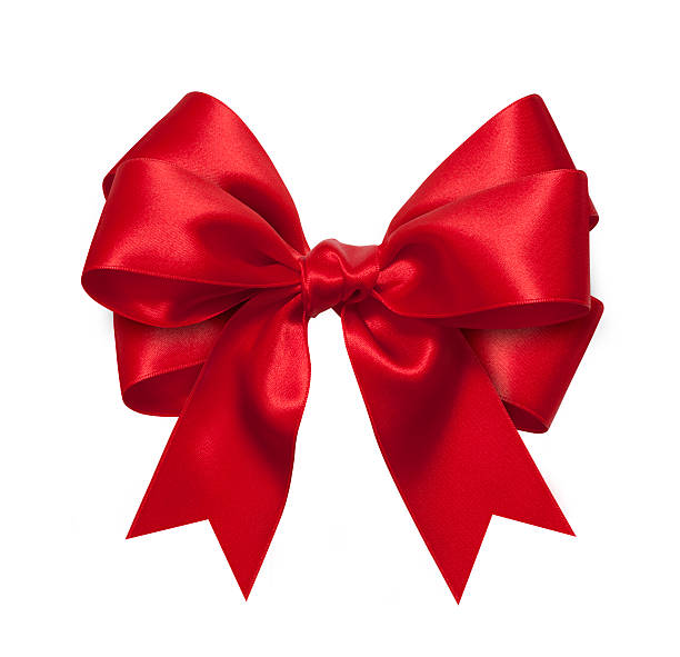 red gift bow - ribbon 個照片及圖片檔