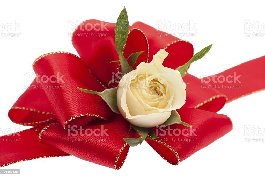 Fiocco rosso regalo foto stock royalty-free