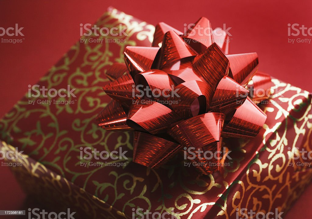 Red Gift Box Hz royalty-free stock photo