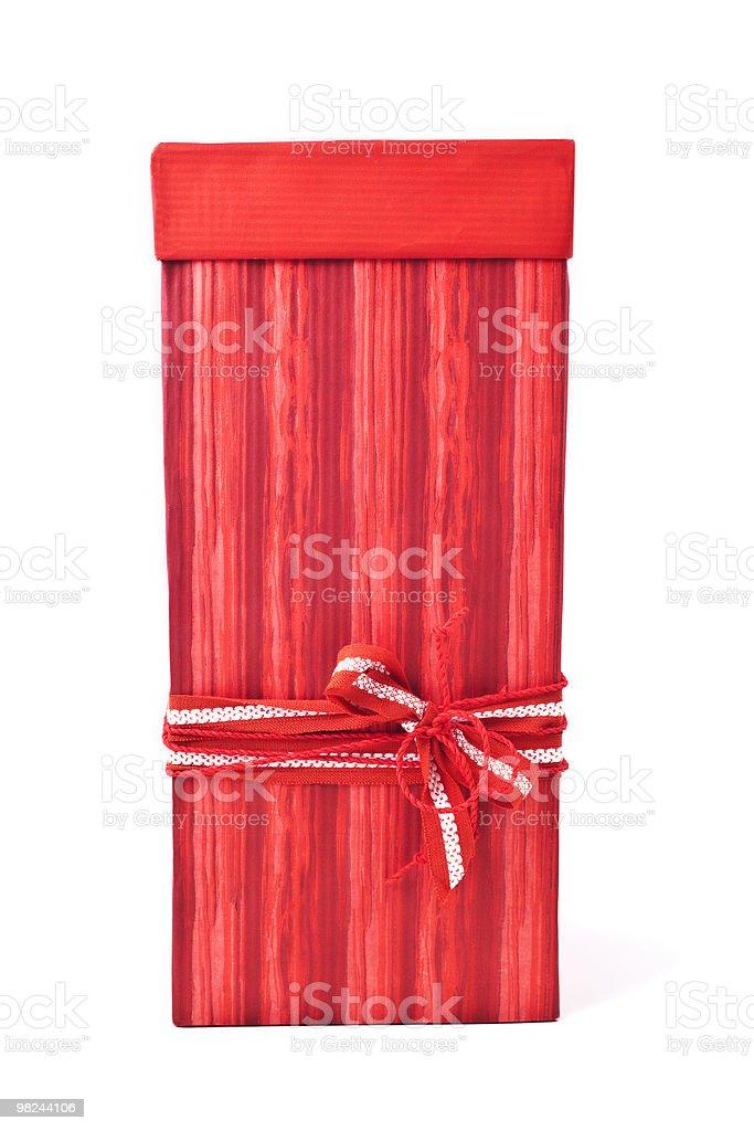 Rosso scatola regalo isolato su bianco foto stock royalty-free