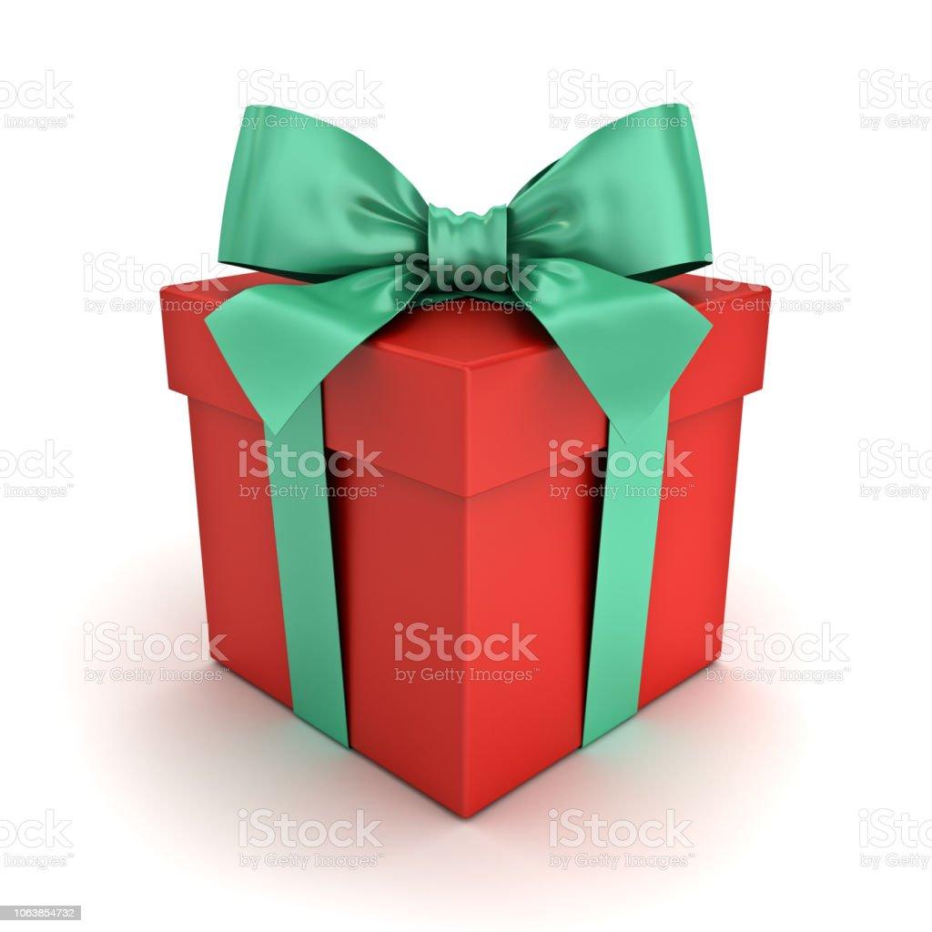 Geschenkbox Weihnachten.Roten Geschenkbox Oder Weihnachten Geschenkbox Mit Grünband Und