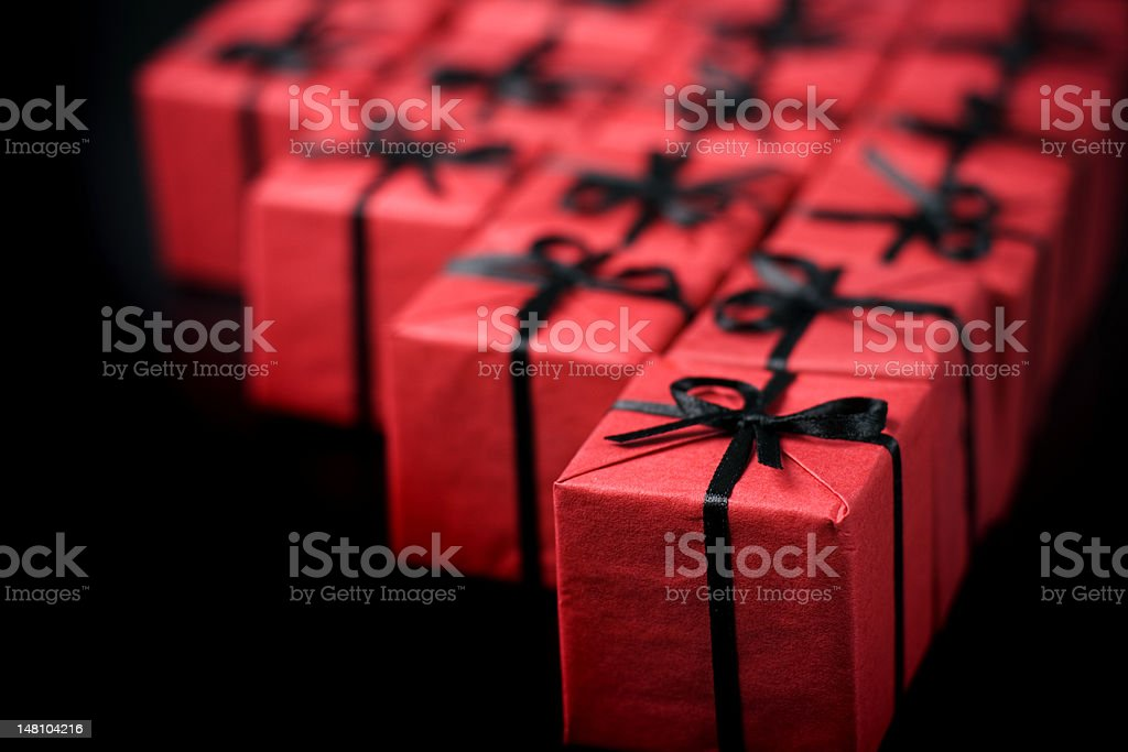 Red Gift Boxes Stock Photo Download Image Now Istock
