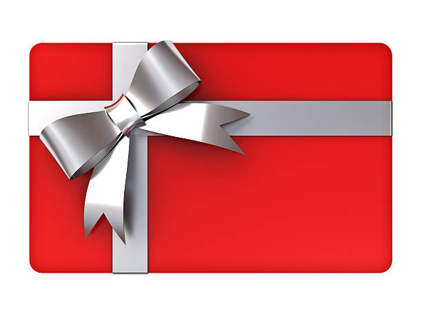 Royalty free gift card pictures images and stock photos istock red gift card with silver ribbons and bow stock photo negle Images