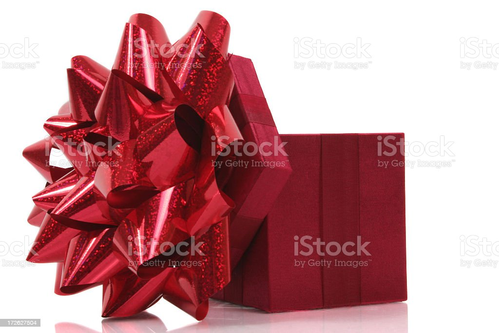Red gift royalty-free stock photo