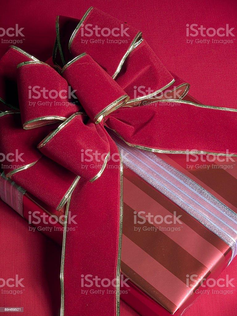 Rot Geschenk Lizenzfreies stock-foto