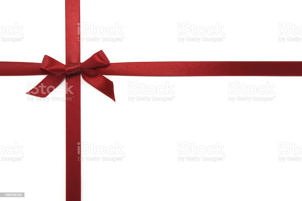 Red Gift Ribbon & Bow royalty-free stock photo