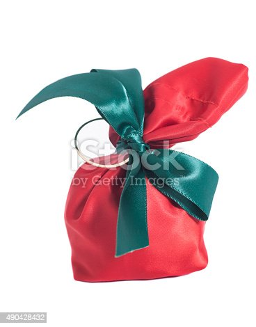 istock Red Gift Sack 490428432