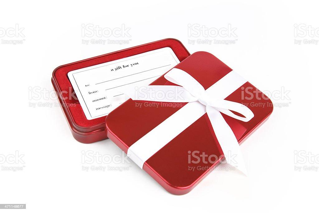 Red giftbox stock photo
