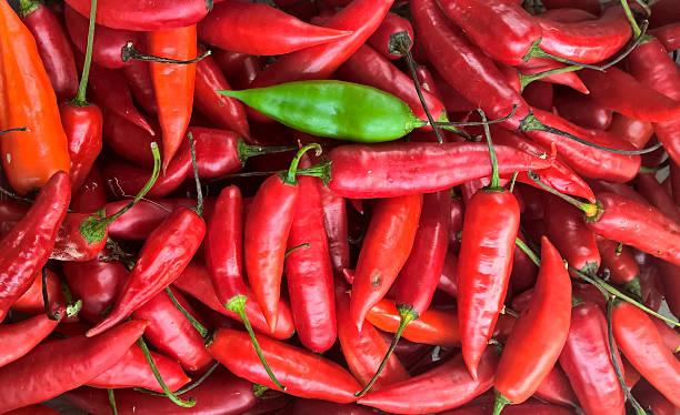 Red Girl Finger Pepper stock photo