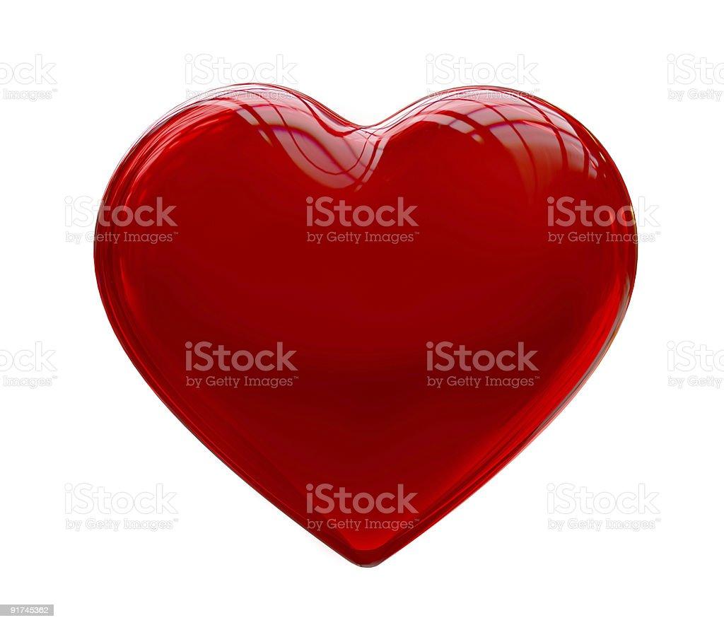 De coração vermelho isolado no fundo branco - foto de acervo
