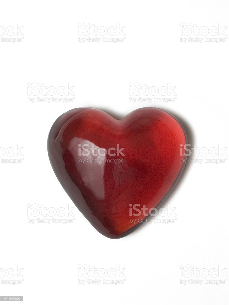 Red Glass Heart royalty-free stock photo