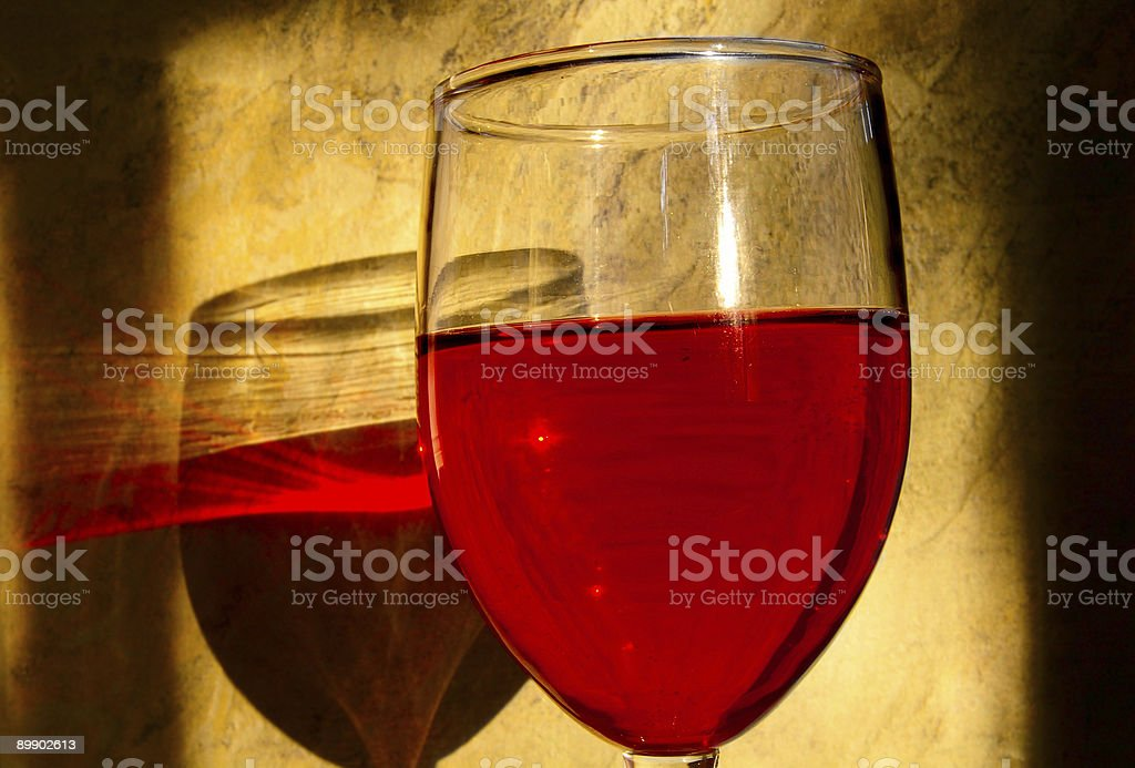 Red glass royalty-free stock photo