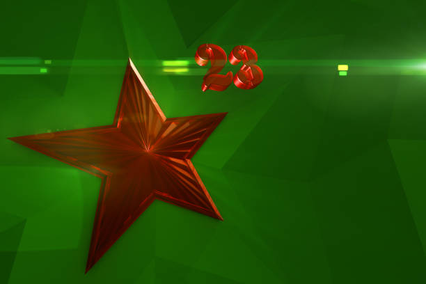 red glass star. - number 23 stock photos and pictures