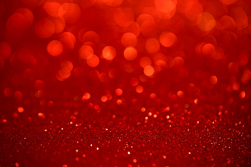 istock Red glitter christmas abstract background 1155133897