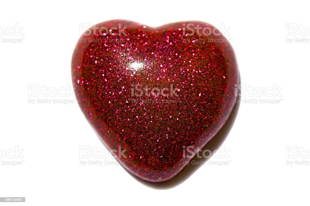 red glitter heart stock photo