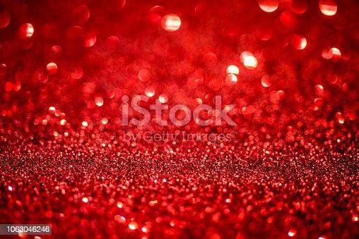 istock Red Glitter 1063046246