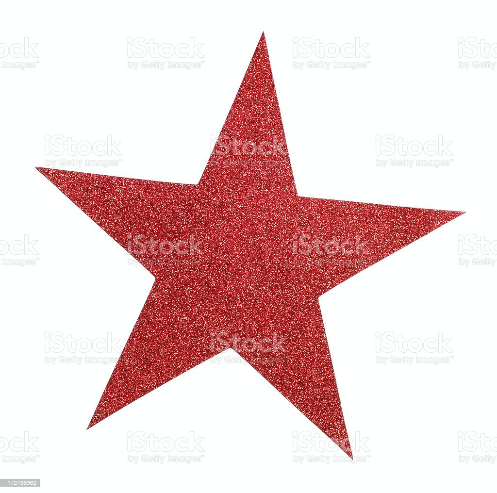 Red Glitter Star royalty-free stock photo