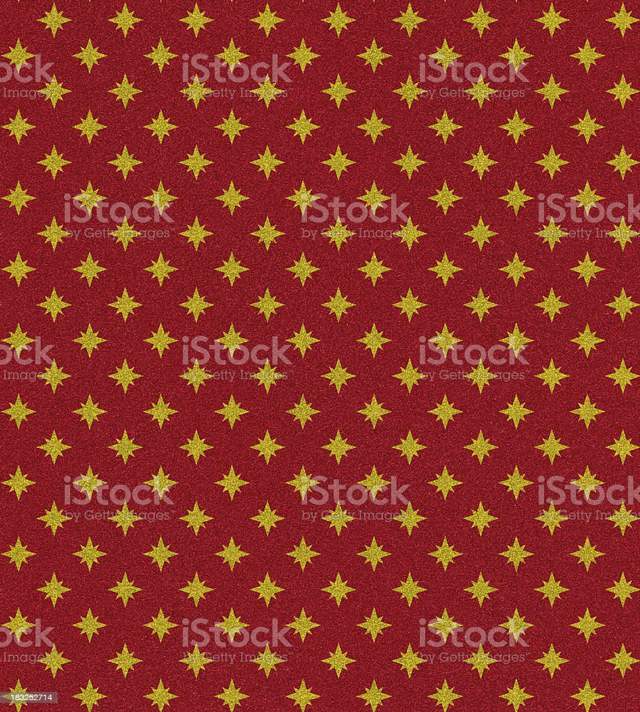 red glitter with gold star pattern royalty-free stock photo