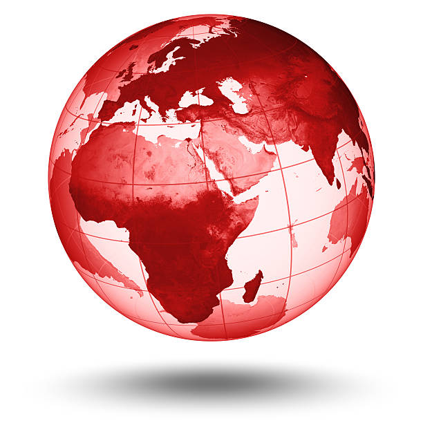 Rote Welt-europäischen Eastern Hemisphere – Foto