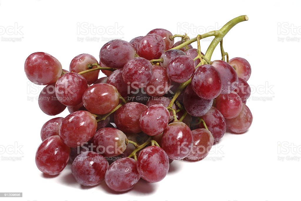 Red globe grapes white background royalty-free stock photo